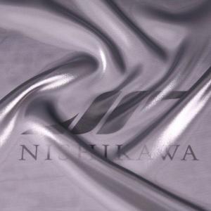 生地 ワンピース、ドレス素材 カチオンステンレスサテン 色番号101 シャンブレーシルバー nishikawa-tex1211