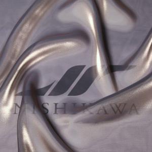 生地 ワンピース、ドレス素材 カチオンステンレスサテン 色番号104 シャンブレーグレイッシュグレー nishikawa-tex1211