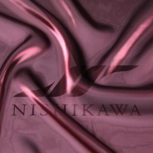 生地 ワンピース、ドレス素材 カチオンステンレスサテン 色番号110 ダークワイン|nishikawa-tex1211