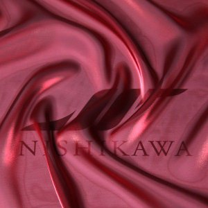 生地 ワンピース、ドレス素材 カチオンステンレスサテン 色番号111 シャンブレーワイン|nishikawa-tex1211