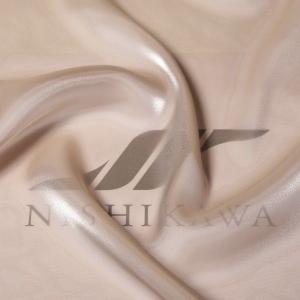 生地 ワンピース、ドレス素材 カチオンステンレスサテン 色番号118 グレイッシュベージュ|nishikawa-tex1211