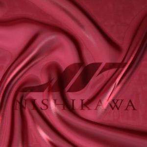 生地 ワンピース、ドレス素材 カチオンステンレスサテン 色番号19 ワインレッド|nishikawa-tex1211