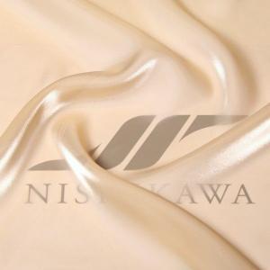 生地 ワンピース、ドレス素材 カチオンステンレスサテン 色番号4 ベージュ|nishikawa-tex1211