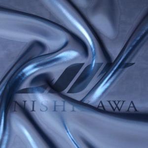 生地 ワンピース、ドレス素材 カチオンステンレスサテン 色番号74 グリーニッシュブルー|nishikawa-tex1211