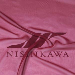 生地 ワンピース、フォーマルドレス ロイヤルシフォンジョーゼット 色番号24 ワインレッド|nishikawa-tex1211