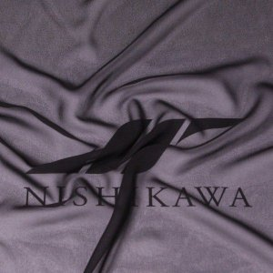 生地 ワンピース、フォーマルドレス ロイヤルシフォンジョーゼット 色番号FBK ブラック|nishikawa-tex1211