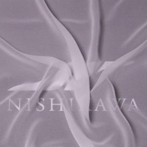 生地 ワンピース、フォーマルドレス ロイヤルシフォンジョーゼット 色番号KW  ホワイト|nishikawa-tex1211