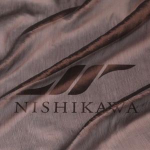 生地 ドレス、ストール、スカート、ダンス衣装 楊柳シフォンジョーゼット 色番号11 ブラウン|nishikawa-tex1211