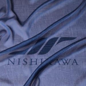生地 ドレス、ストール、スカート、ダンス衣装 楊柳シフォンジョーゼット 【限定色】 色番号12 ネイビー|nishikawa-tex1211