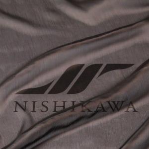 生地 ドレス、ストール、スカート、ダンス衣装 楊柳シフォンジョーゼット 色番号23 ダークブラウン|nishikawa-tex1211