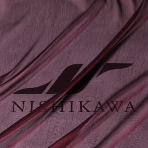 生地 ドレス、ストール、スカート、ダンス衣装 楊柳シフォンジョーゼット 色番号27 ダークワイン|nishikawa-tex1211