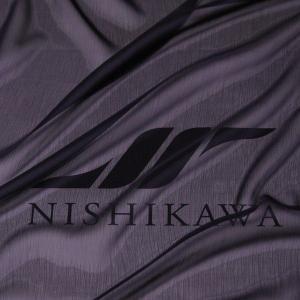 生地 スカート、ダンス衣装 広幅素材 シャンブレー楊柳シフォンジョーゼット 色番号11 ネイビー|nishikawa-tex1211