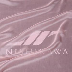 生地 スカート、ダンス衣装 広幅素材 シャンブレー楊柳シフォンジョーゼット 色番号14 ライトコーラル|nishikawa-tex1211
