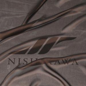 生地 スカート、ダンス衣装 広幅素材 シャンブレー楊柳シフォンジョーゼット 色番号24 ブラウン|nishikawa-tex1211