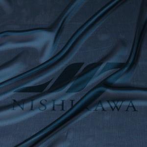 生地 スカート、ダンス衣装 広幅素材 シャンブレー楊柳シフォンジョーゼット 色番号26 ダークターコイズ|nishikawa-tex1211