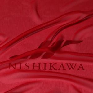 生地 スカート、ダンス衣装 広幅素材 シャンブレー楊柳シフォンジョーゼット 色番号29 レッド|nishikawa-tex1211