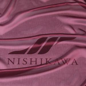 生地 スカート、ダンス衣装 広幅素材 シャンブレー楊柳シフォンジョーゼット 色番号30 グレイッシュワイン|nishikawa-tex1211