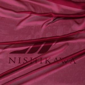 生地 スカート、ダンス衣装 広幅素材 シャンブレー楊柳シフォンジョーゼット 色番号33 ダークマゼンダ |nishikawa-tex1211