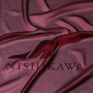 生地 スカート、ダンス衣装 広幅素材 シャンブレー楊柳シフォンジョーゼット 色番号43 ワイン|nishikawa-tex1211