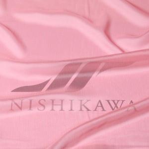 生地 スカート、ダンス衣装 広幅素材 シャンブレー楊柳シフォンジョーゼット 色番号62 コーラル |nishikawa-tex1211