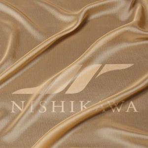 生地 スカート、ダンス衣装 広幅素材 シャンブレー楊柳シフォンジョーゼット 色番号9 イエローベージュ|nishikawa-tex1211
