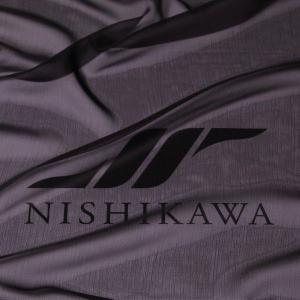 生地 スカート、ダンス衣装 広幅素材 シャンブレー楊柳シフォンジョーゼット 色番号FBK ブラック|nishikawa-tex1211