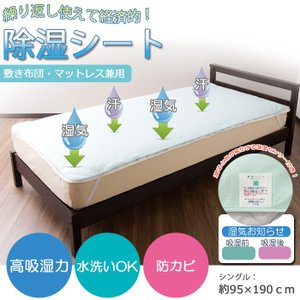 【除湿シートの特徴】   ■POINT1 ご自宅の洗濯機で丸洗いが出来ます。  ■POINT2 湿り...