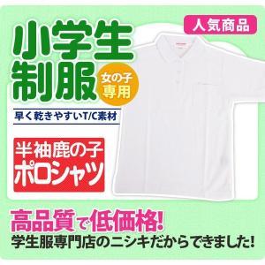 小学生制服 ポロシャツ 半袖 女子用 A体 スクールシャツ