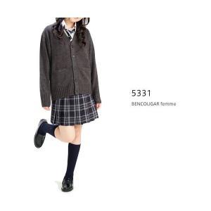 【P会員8%OFF】ベンクーガー スクールスカート (ブラック×グリーン チェック・5331)|nishiki