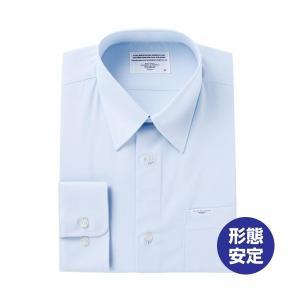 BEVERLY HILLS POLO CLUB スクールシャツ 長袖 裾水平カット サックス S〜4...