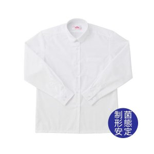 【P会員8%OFF】ビーステラ 長袖丸衿スクールシャツ (制菌加工) ワイシャツ Yシャツ【返品・交換不可商品】|nishiki