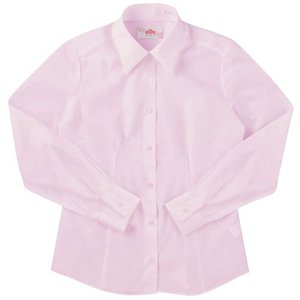【P会員8%OFF】ビーステラ 長袖スクールシャツ (ピンク) ワイシャツ Yシャツ【返品・交換不可商品】|nishiki