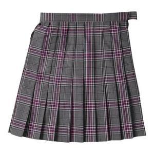 【P会員8%OFF】ビーステラ スカート 制服 スクールスカ−ト (グレー×パープル・BS501)|nishiki