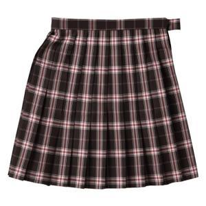 【P会員8%OFF】ビーステラ スカート 制服 スクールスカ−ト (ブラウン×ピンク・BS502)|nishiki
