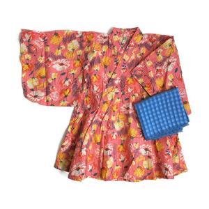 【P会員8%OFF】オーシャンアンドグラウンド(Ocean&Ground) 浴衣ワンピース ピンク|nishiki
