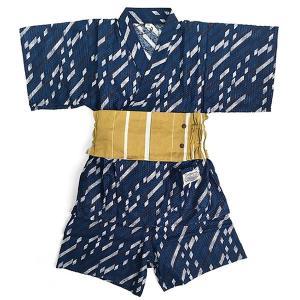 【P会員8%OFF】オーシャンアンドグラウンド BOY'Sセットアップ浴衣WAGARA 男児 ネイビー 90cm-120cm 1812602|nishiki