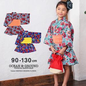 Ocean&Ground/オーシャンアンドグラウンド 浴衣ワンピース 女児 MODERN FLOWER|nishiki