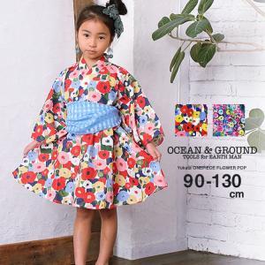 Ocean&Ground/オーシャンアンドグラウンド 浴衣ワンピース FLOWER POP nishiki