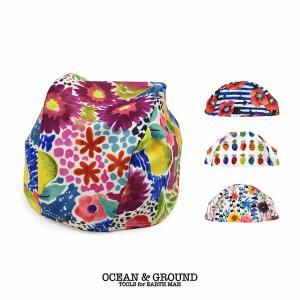 オーシャンアンドグラウンド(Ocean&Ground)スイムキャップ   女の子 水着 (返品・交換不可商品) nishiki