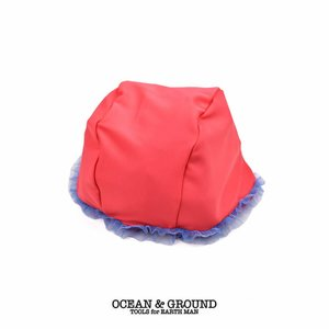 オーシャンアンドグラウンド(Ocean&Ground)スイムキャップ チュール 女児 ピンク(返品・交換不可商品) nishiki