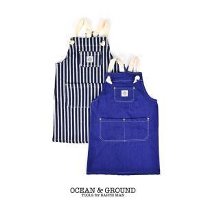 オーシャンアンドグラウンド(Ocean&Ground)BLUEBLUE エプロンセット デニム|nishiki