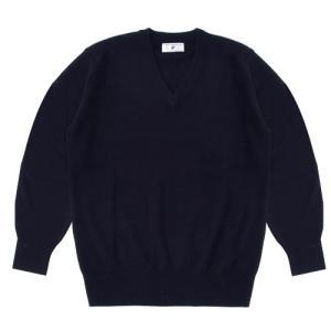 【アウトレット】スクールセーター 男女兼用/学生用 秋冬 アクリル70%ウール30% ネイビー SS-XL【返品・交換不可商品】|nishiki