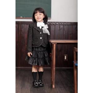 【全国送料無料】スカートスーツ(ブラック)フォーマル5点セット 子供フォーマル トドラー 女の子 N-Girl|nishiki
