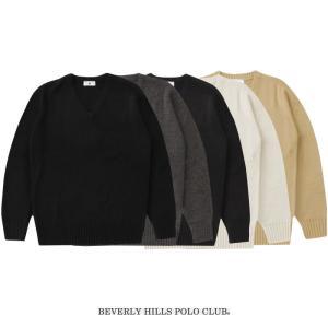 BEVERLY HILLS POLO CLUB セーター アクリルウール ポイント無 3S〜XL K...