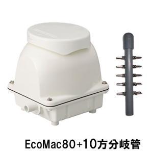 フジクリーン工業(マルカ)エアーポンプ EcoMac80+10方分岐管 送料無料 北海道 沖縄 別途2160円 東北324円