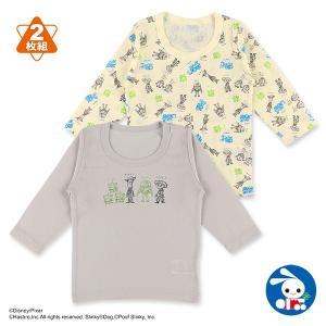 ベビー服 男の子 2枚組長袖シャツ(トイストーリー) 80cm・90cm・95cm 赤ちゃん ベビー 新生児 乳児 幼児 子供服 おしゃれ|nishimatsuya