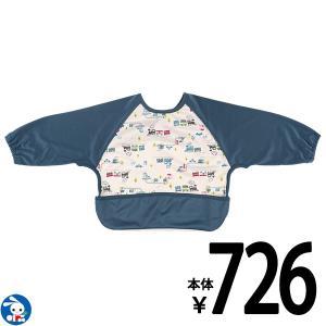 ベビー服 男の子 長袖食事用エプロン(汽車&車) 80-90cm 赤ちゃん ベビー 新生児 乳児 幼児 子供服 おしゃれ|nishimatsuya