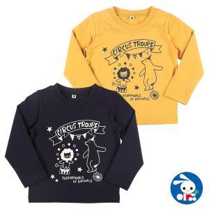 ベビー服 男の子 サーカスロゴプリント長袖Tシャツ 80cm・90cm・95cm 赤ちゃん ベビー 新生児 乳児 幼児 子供服 おしゃれ nishimatsuya