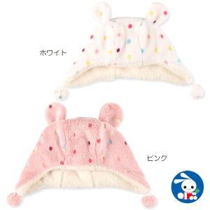 サンゴフリース帽(ドット柄)【46-48・48-50cm】[帽子 ぼうし]|nishimatsuya