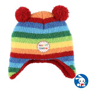 ブークレー耳付き梵天レインボーニットワッチ【44-46cm】[帽子]|nishimatsuya